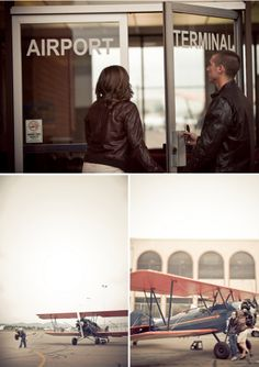 Wedding Blog Airport Engagement