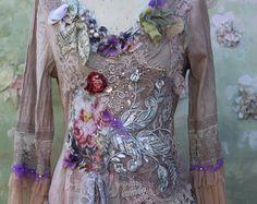 Framboise hand beaded embroidered bohemian flair by FleursBoheme