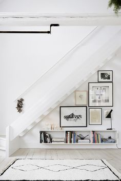 simple white stair l