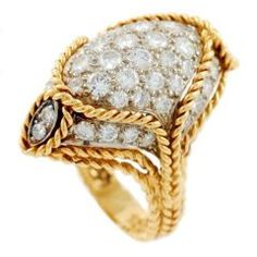 TIFFANY & Co. Yellow Gold and Diamond Ring 7