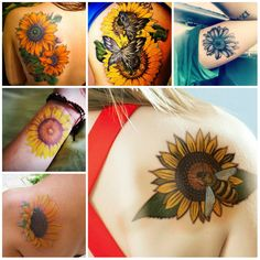 Sunflower Tattoo Designs and Meanings | Tattoo Ideas Gallery & Designs ...