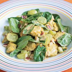Curried Chicken Salad with Grapes | MyRecipes.com