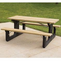 Recycled Plastic Picnic Tables - Brown by C $953.00. Steel sub-frame for rigidity. 79% post-industrial recycled plastic sufraces. Maintenance-free, no painting required. 6' Recycled Plastic Picnic Table Brown Table Blk Frame. Frame color: black. Long-lasting tables are crack-, split-, and rot-proof unlike natural wood.