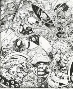 Valkyrie in Battle by Arthur Adams!  **GRAIL** Comic Art