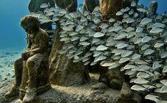Los creadores de estas esculturas son el británico Jason deCaires Taylor y Roberto Díaz Abraham