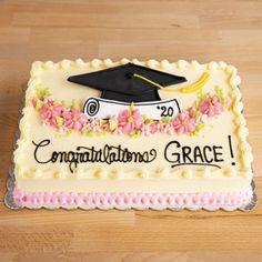 Graduation Cakes Graduation Cake Designs, College Graduation Cakes, Graduation Desserts, Graduation Cupcakes, Grad Party Decorations, Graduation Party Decor, Graduation Party Planning, Cake Designs For Girl, Sheet Cake Designs