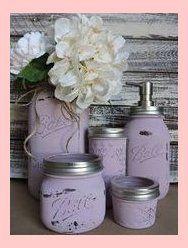 Items Similar To 5 Piece Mason Jar Bathroom Set Rustic Mason Jar