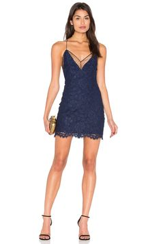 X by NBD Blake Dress en Azul marino | REVOLVE