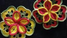 3d flowers potholder