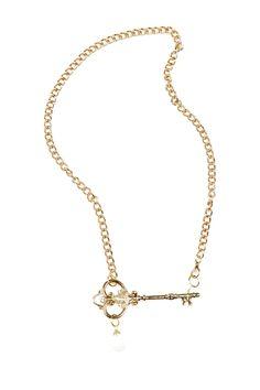Opal Key Necklace