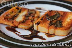 Foto: Para o #lanche temos um fiozinho de Mel de Rapadura Caseiro por cima de uma banana grelhada ou queijo coalho grelhado.  #Receita aqui: http://www.gulosoesaudavel.com.br/2016/09/27/mel-de-rapadura-caseiro/