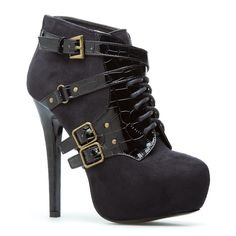 Add some bite to your outfits with Meilin, a lace-up ankle boot that demands that you buckle up!