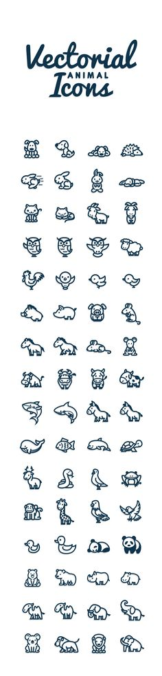 Vectorial Animals by Bodea Daniel, via Behance  //   Petits animaux divers…