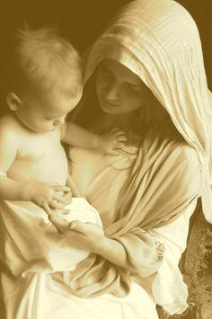 How I envision Mother Mary and Baby Jesus...