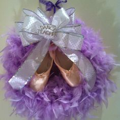 Ballet dance teacher wreath I made!