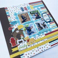 Baby Girl Scrapbook, Love Scrapbook, Scrapbook Quotes, Scrapbook Journal, Journal Cards, Scrapbook Cards, Dog Scrapbook Layouts, Scrapbooking Ideas, Echo Park Paper