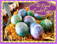Tie Dyed Easter Eggs Main