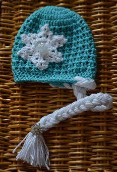 """Crochet """"Frozen"""" Inspired Elsa Hat with Braid by LoveLizard – crochet, Disney princess, Elsa, frozen, crochet, snowflakes"""