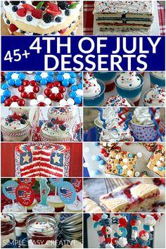 4th of July Desserts Patriotic Desserts, 4th Of July Desserts, Fourth Of July Decor, 4th Of July Decorations, Patriotic Crafts, Patriotic Party, Patriotic Wreath, July Crafts, 4th Of July Party