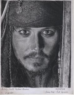 Johnny Depp- Captain Jack Sparrow Portrait by LaPicher