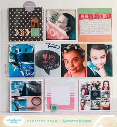 Layout by Rebecca Keppel for Scrapbook Circle #scrapbook #scrapbooking On This Day Ideas