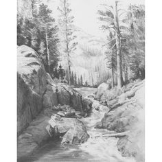 pencil nature landscape drawings furniture easy drawing sketch scenery sketching realistic shading overstock