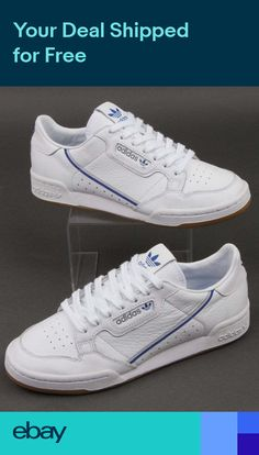 03ad2a4c83 adidas Continental 80 x TFL Trainers in White Grey & Blue - limited edition  Vans Authentic