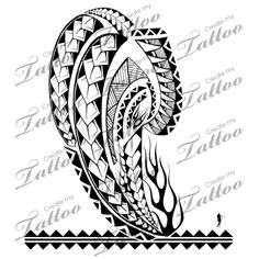 Marketplace Tattoo Polynesian Flame Shoulder-Arm #6107 | CreateMyTattoo.com