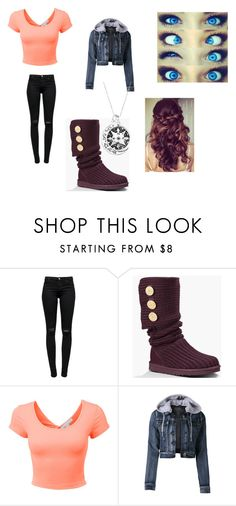 """""""Untitled #46"""" by wildchild-98 ❤ liked on Polyvore featuring J Brand, UGG Australia, LE3NO and Retrò"""