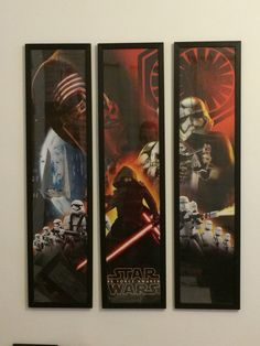STARWARS THE FORCE AWAKENS 3 PIECE FRAMED POSTER BY framesbymarvel Star Force, Marvel Dc, Star Wars, Comics, 3 Piece, Frame, Posters, Painting, Art
