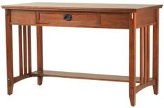 """Artisan Computer / writing Desk, 48""""WX24""""DX30""""H, LIGHT OAK by Home Decorators Collection. $369.00. 30""""H x 47.75""""W x 24""""D.. Our Aristan Computer/Writing Desk adds the perfect amount of storage space and has a sizable desk area perfect for a laptop or desktop computer. Inspired by the Arts and Crafts movement, this desk upholds the principles of the design style and careful attention to details. Discover the endless appeal of the Artisan Collection and order your desk now...."""