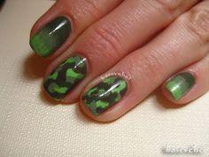 Ombre & moro nail art - paznokcie moro + cieniowanie - Basevehei