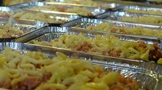 Produção das nossas lasanha bolonhesas