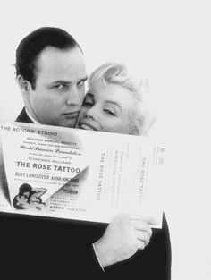 Marlon Brando et Marilyn Monroe.