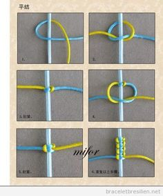 Tutoriel pas a pas, comment creer un bracelet simple de queue de rat - Tap the link now to see where you can find the top trending items for your own fly! You can make with embroidery thread, affordable string or even yarn. Great project to make with kid Square Knot Bracelets, Diy Bracelets Easy, Bracelet Crafts, Jewelry Crafts, Handmade Jewelry, Crochet Bracelet, Simple Diy Friendship Bracelets, Macrame Bracelets, Knotted Bracelet