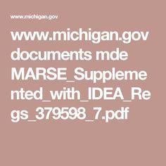 www.michigan.gov documents mde MARSE_Supplemented_with_IDEA_Regs_379598_7.pdf