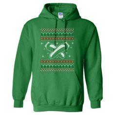 Barber Ugly Christmas Sweater Xmas - Heavy Blend™ Hooded Sweatshirt