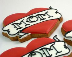 Decorated Cookies - Mother's Day - Mom Tattoo - 1 dozen