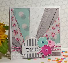 Fabulous Thank You card by TE Fan Michelle Woerner! 8-) #Cardmaking, #ThankYou, #Stampofthemonth