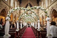 decorating pews for weddings | Floral Church Wedding Decoration ...
