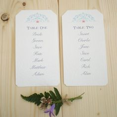 table plan blue lace by edgeinspired | notonthehighstreet.com