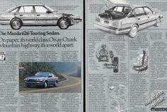 Mazda 626 Touring Sedan Large 2 Page (1985)