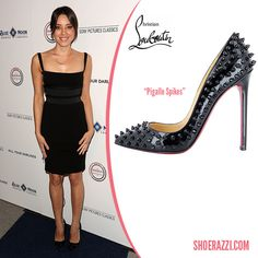Pigalle 120mm Spikes Black Christian Louboutin Sandals, Aubrey Plaza, Red Sole, Blue Moon, Spikes, Pairs, Heels, Black, Fashion