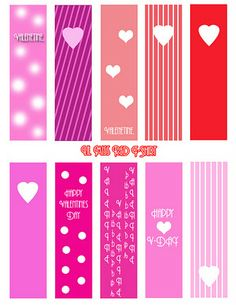 15 Free Valentine's Day Bookmark Printables - Generation iKid