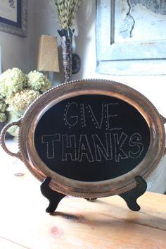 Silver Chalkboard Platter | daisymaebelle