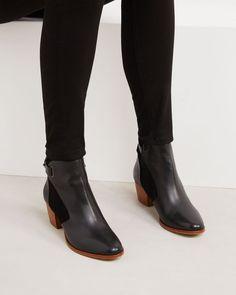 Mid boots en cuir