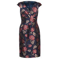 Buy Alexon Jacquard Dress, Multi/Navy Online at johnlewis.com