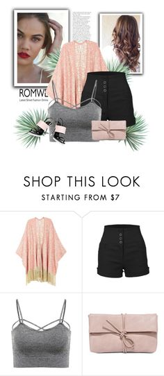 """""""Romwe"""" by maidaa12 ❤ liked on Polyvore featuring Melissa McCarthy Seven7, LE3NO, LULUS, Giuseppe Zanotti, Agave, romwe, cutoffs, contestentry, polyvoreeditorial and plus size clothing"""
