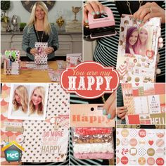 You are my happy line with Teresa Collins on My Craft Channel.com #mycraftchannel #teresacollins #papercrafting