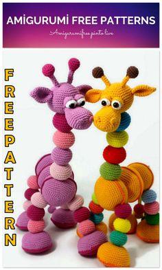 Amigurumi Rainbow Giraffe Free Crochet Pattern – Amigurumi Free Pinto Live – About Life Crochet Giraffe Pattern, Crochet Patterns Amigurumi, Crochet Dolls, Crochet Crafts, Crochet Projects, Free Crochet, Amigurumi Free, Amigurumi Doll, Confection Au Crochet